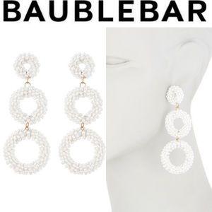 BAUBLEBAR White Capella Drop Earrings